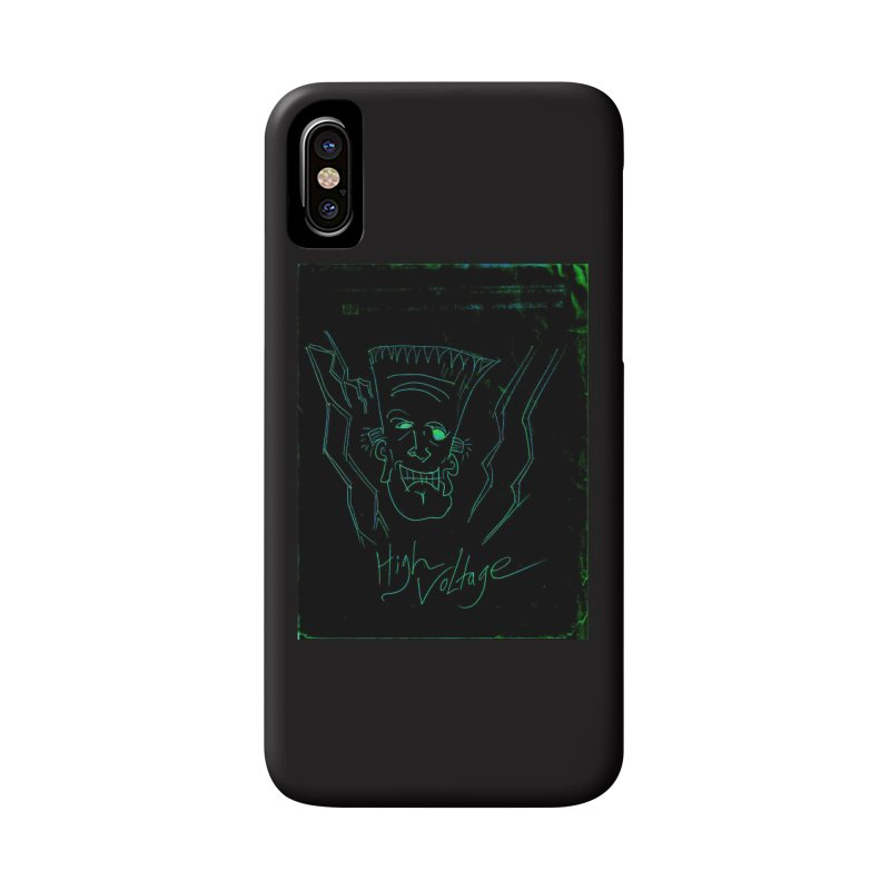 High Voltage Frank Accessories Phone Case by Monstrous Customs