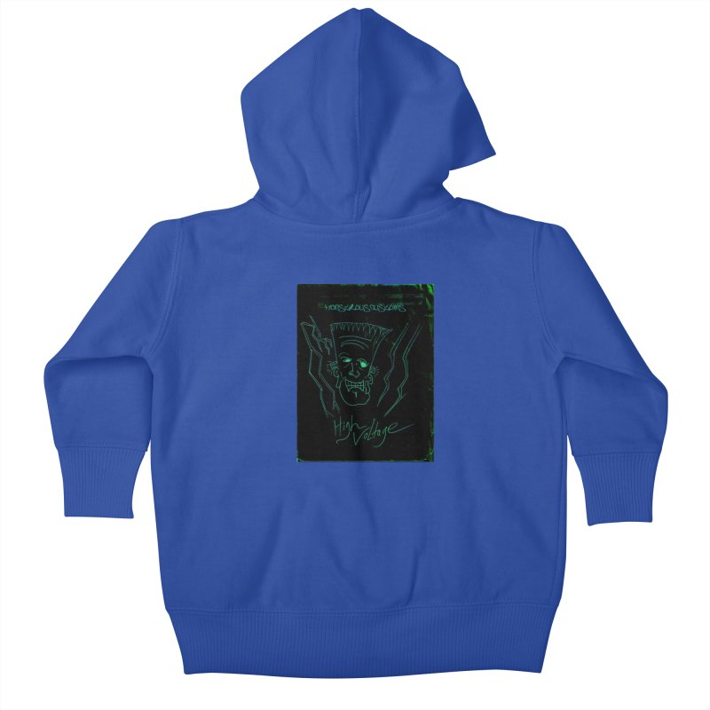High Voltage Frank Kids Baby Zip-Up Hoody by Monstrous Customs