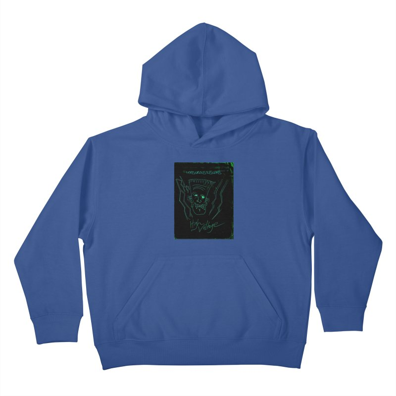 High Voltage Frank Kids Pullover Hoody by Monstrous Customs