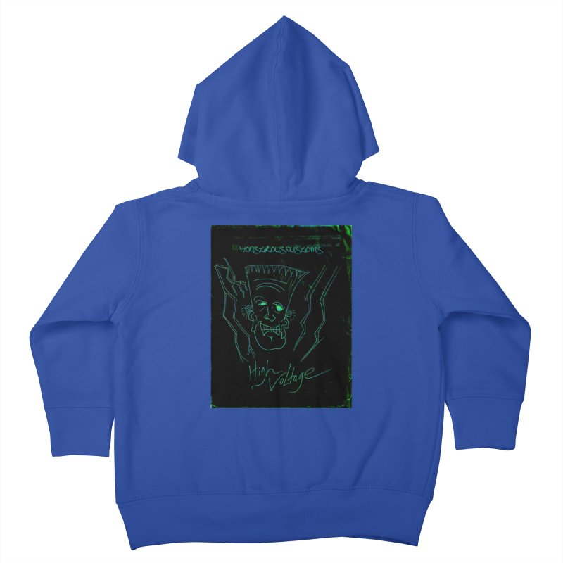 High Voltage Frank Kids Toddler Zip-Up Hoody by Monstrous Customs