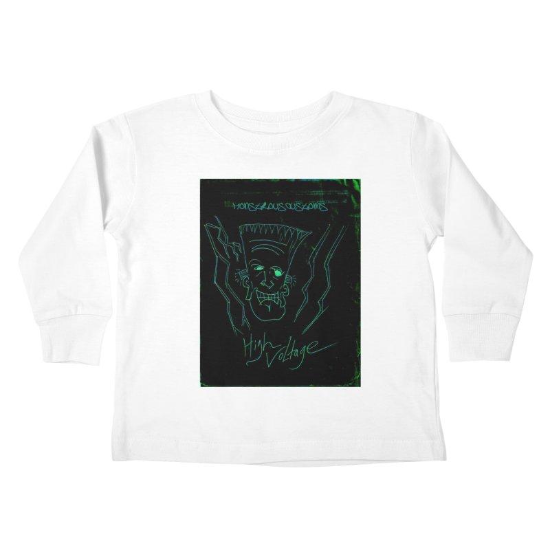 High Voltage Frank Kids Toddler Longsleeve T-Shirt by Monstrous Customs