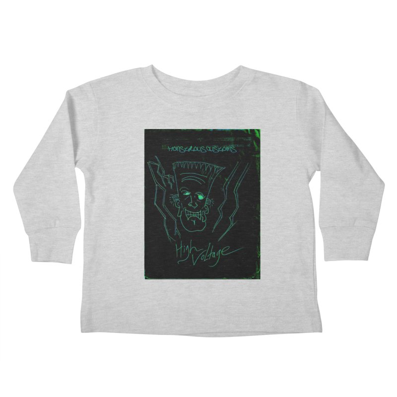 High Voltage Frank Kids Toddler Longsleeve T-Shirt by Monstrous Customs