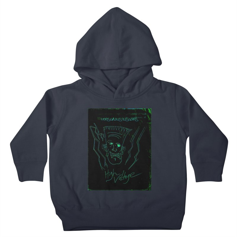 High Voltage Frank Kids Toddler Pullover Hoody by Monstrous Customs