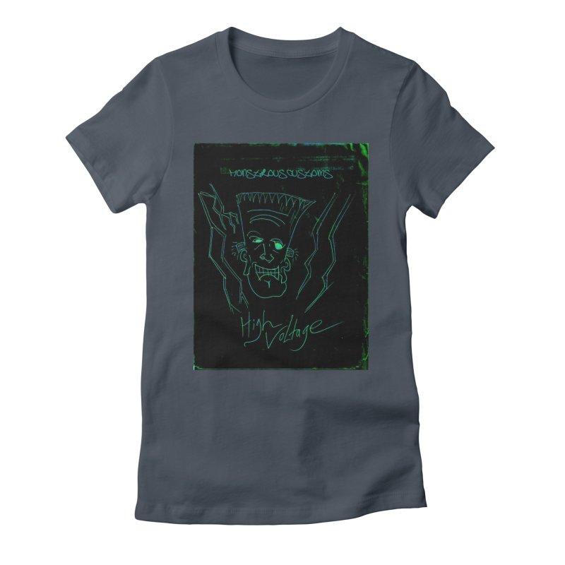 High Voltage Frank Women's T-Shirt by Monstrous Customs