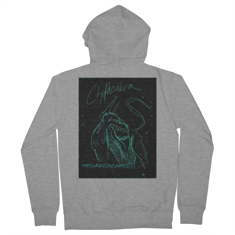 The Chupacabra! Women's French Terry Zip-Up Hoody by Monstrous Customs