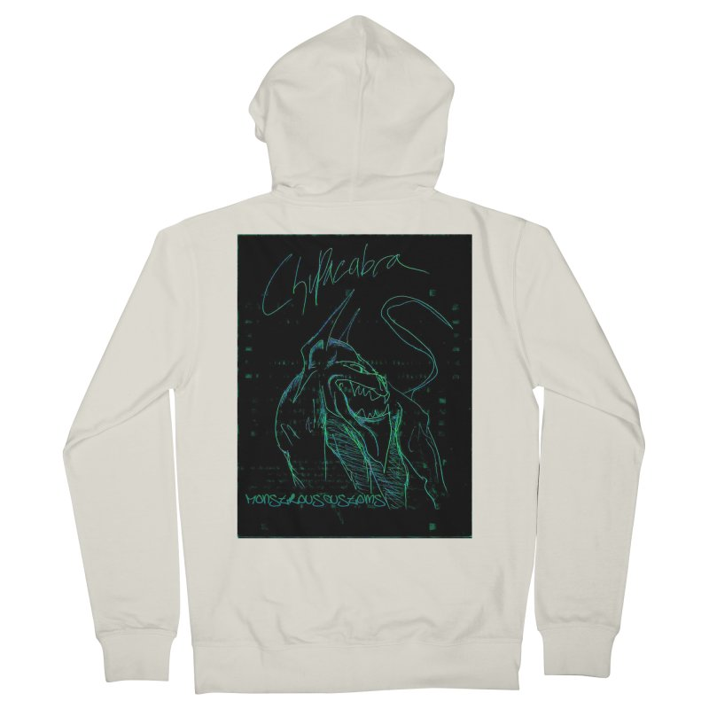 The Chupacabra! Men's French Terry Zip-Up Hoody by Monstrous Customs