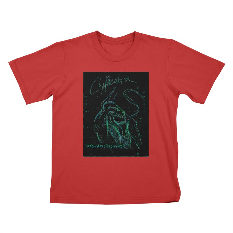 The Chupacabra! Kids T-Shirt by Monstrous Customs
