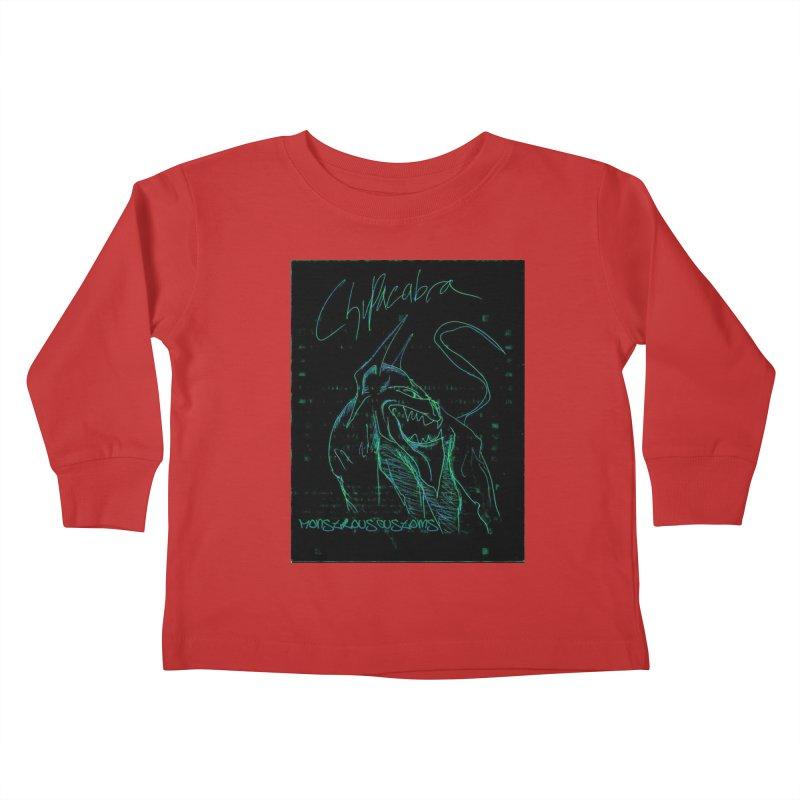 The Chupacabra! Kids Toddler Longsleeve T-Shirt by Monstrous Customs