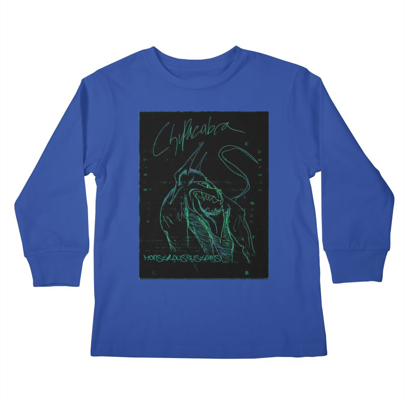 The Chupacabra! Kids Longsleeve T-Shirt by Monstrous Customs