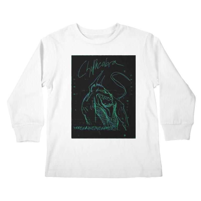 The Chupacabra! Kids Longsleeve T-Shirt by Monstrous Customs