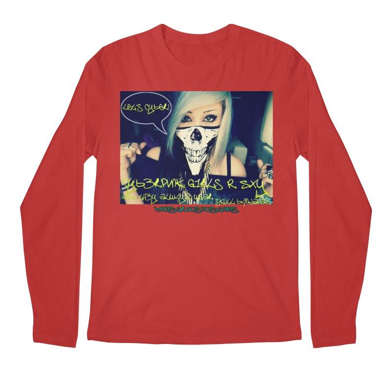 Cyber Girls R SXY Men's Regular Longsleeve T-Shirt by Monstrous Customs