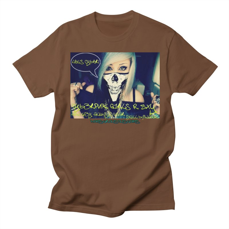 Cyber Girls R SXY Men's Regular T-Shirt by Monstrous Customs