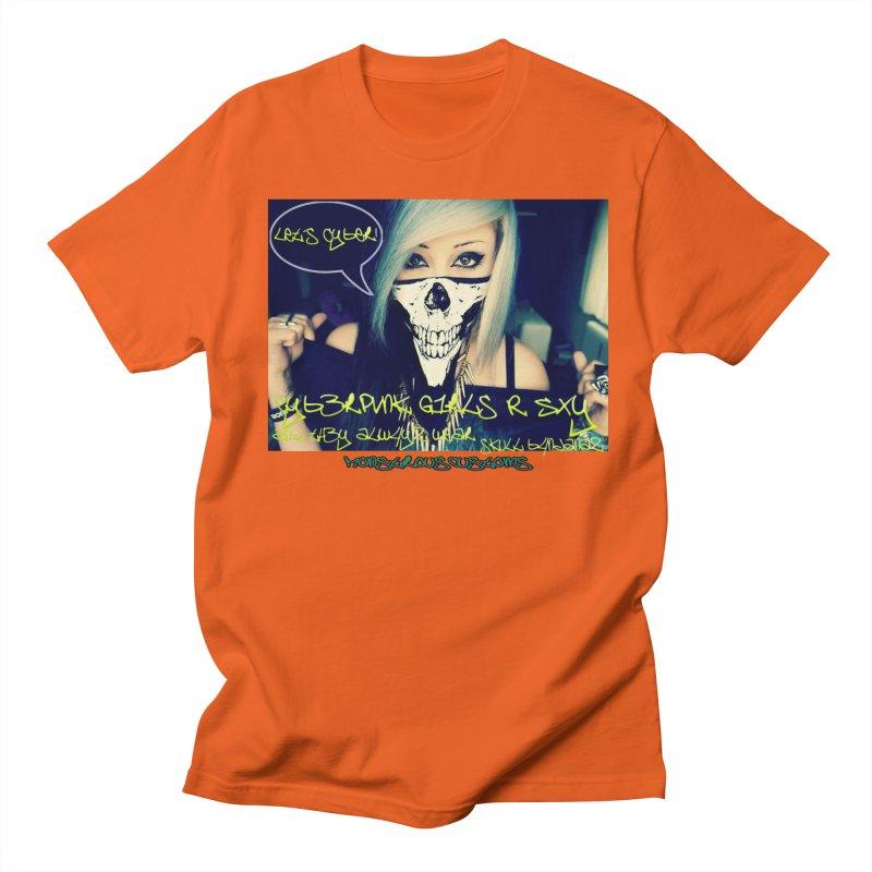 Cyber Girls R SXY Men's Regular T-Shirt by Monstrous Customs