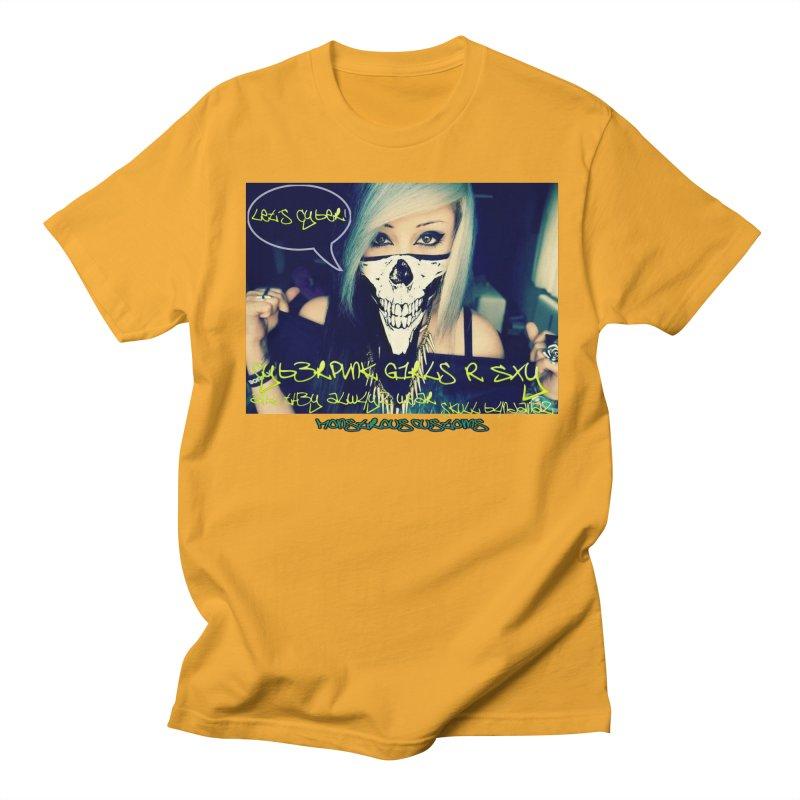 Cyber Girls R SXY Men's T-Shirt by Monstrous Customs