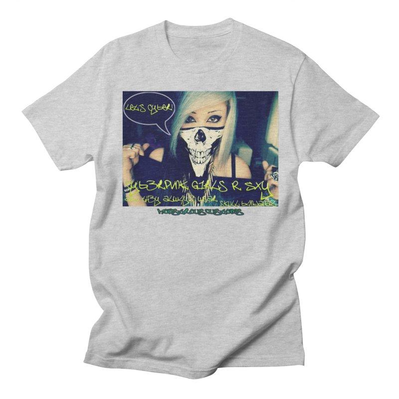 Cyber Girls R SXY Women's Regular Unisex T-Shirt by Monstrous Customs