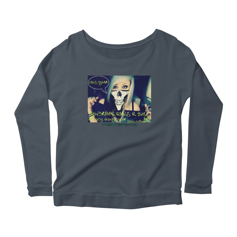 Cyber Girls R SXY Women's Longsleeve Scoopneck  by Monstrous Customs