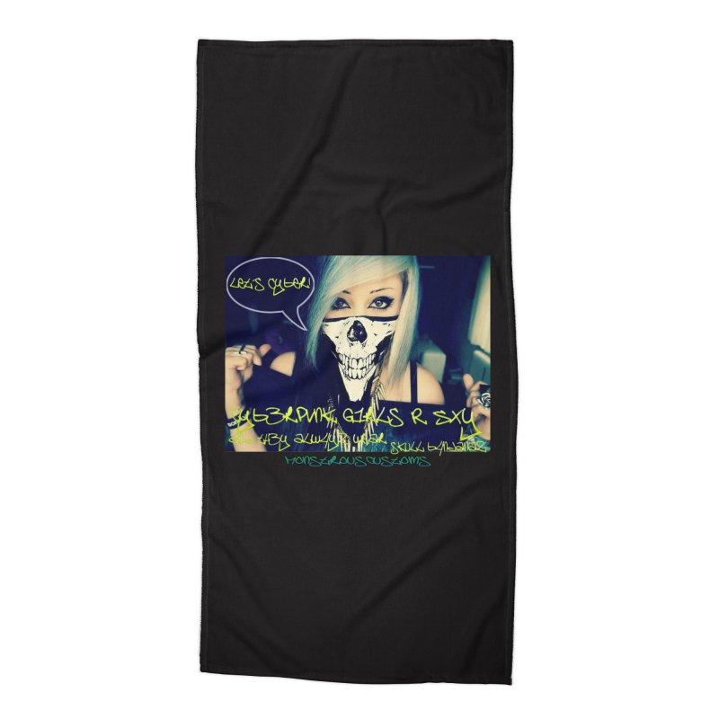 Cyber Girls R SXY Accessories Beach Towel by Monstrous Customs