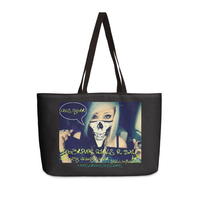 Cyber Girls R SXY Accessories Weekender Bag Bag by Monstrous Customs