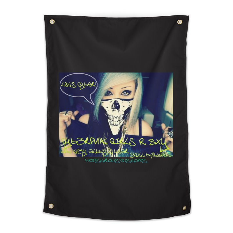 Cyber Girls R SXY Home Tapestry by Monstrous Customs