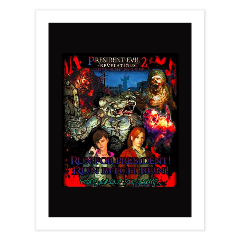 President Evil 23: The Movie Home Fine Art Print by Monstrous Customs