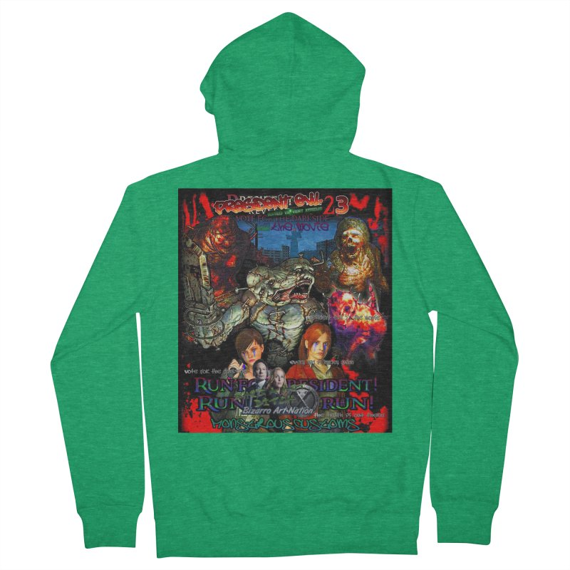 President Evil 23: The Movie Men's French Terry Zip-Up Hoody by Monstrous Customs