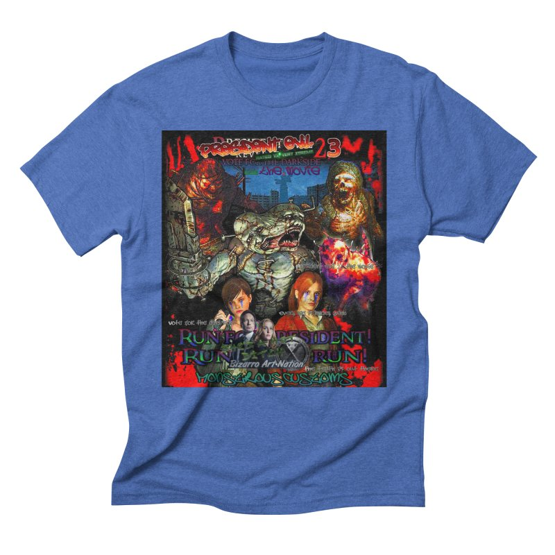 President Evil 23: The Movie Men's Triblend T-Shirt by Monstrous Customs