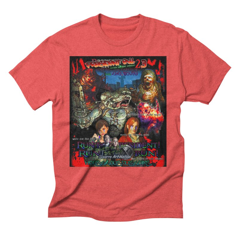 President Evil 23: The Movie Men's Triblend T-Shirt by Monstrous Customs