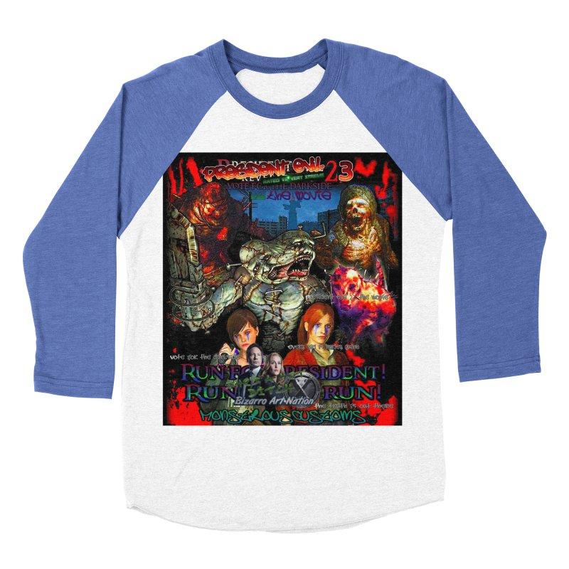 President Evil 23: The Movie Women's Baseball Triblend Longsleeve T-Shirt by Monstrous Customs