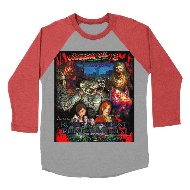 President Evil 23: The Movie Women's Baseball Triblend Longsleeve T-Shirt by Monstrous Customs