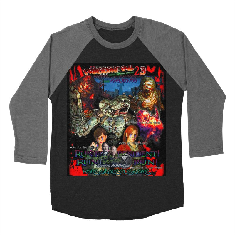 President Evil 23: The Movie Men's Baseball Triblend Longsleeve T-Shirt by Monstrous Customs