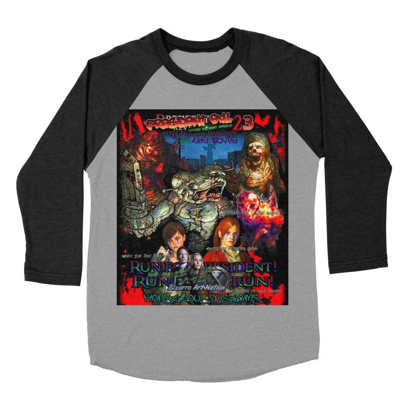 President Evil 23: The Movie Men's Baseball Triblend Longsleeve T-Shirt by Monstrous Customs