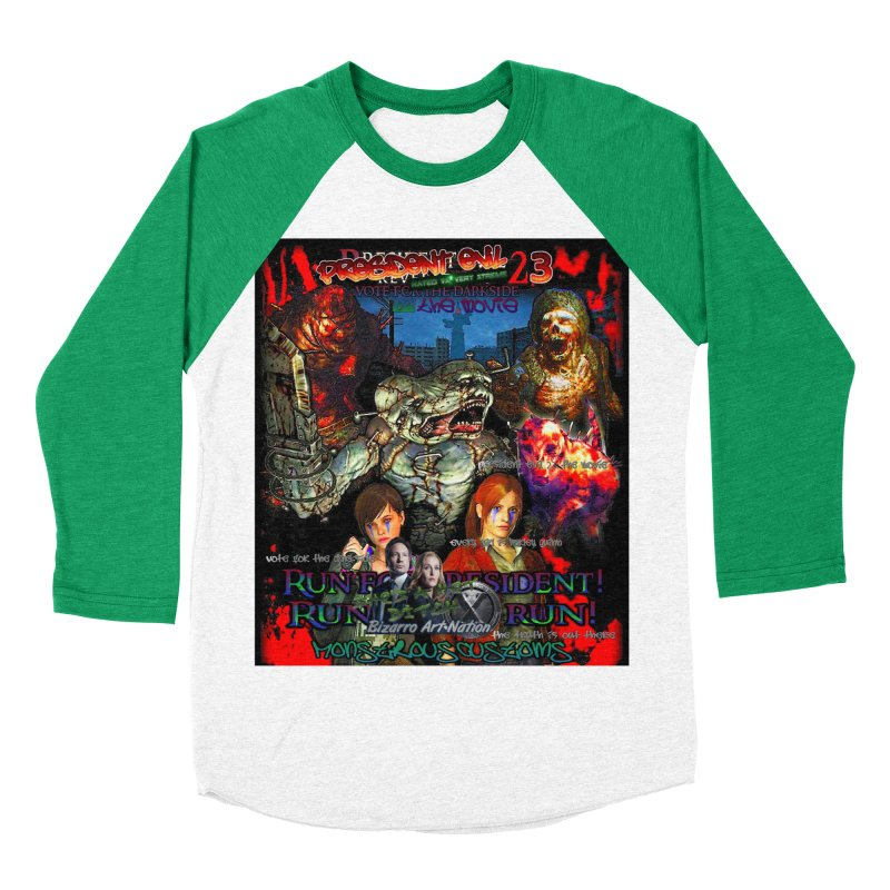 President Evil 23: The Movie Men's Baseball Triblend T-Shirt by Monstrous Customs