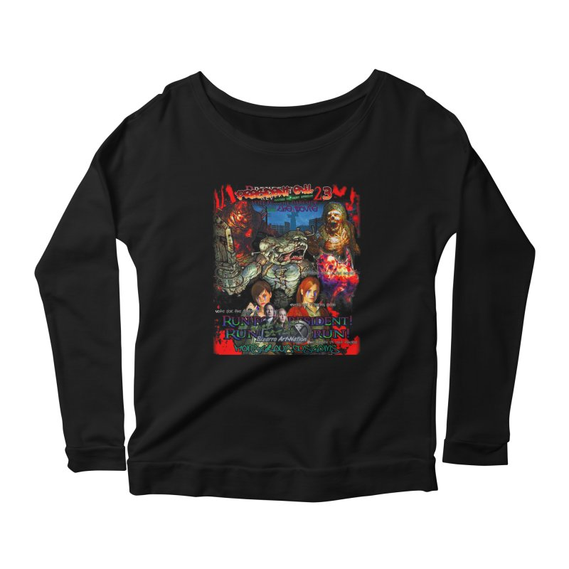 President Evil 23: The Movie Women's Scoop Neck Longsleeve T-Shirt by Monstrous Customs