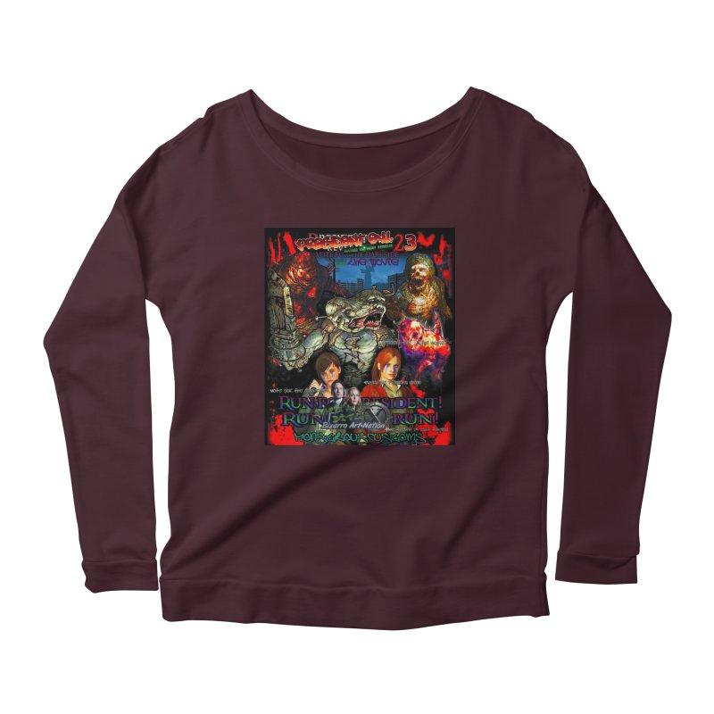 President Evil 23: The Movie Women's Scoop Neck Longsleeve T-Shirt by Monstrous Customs