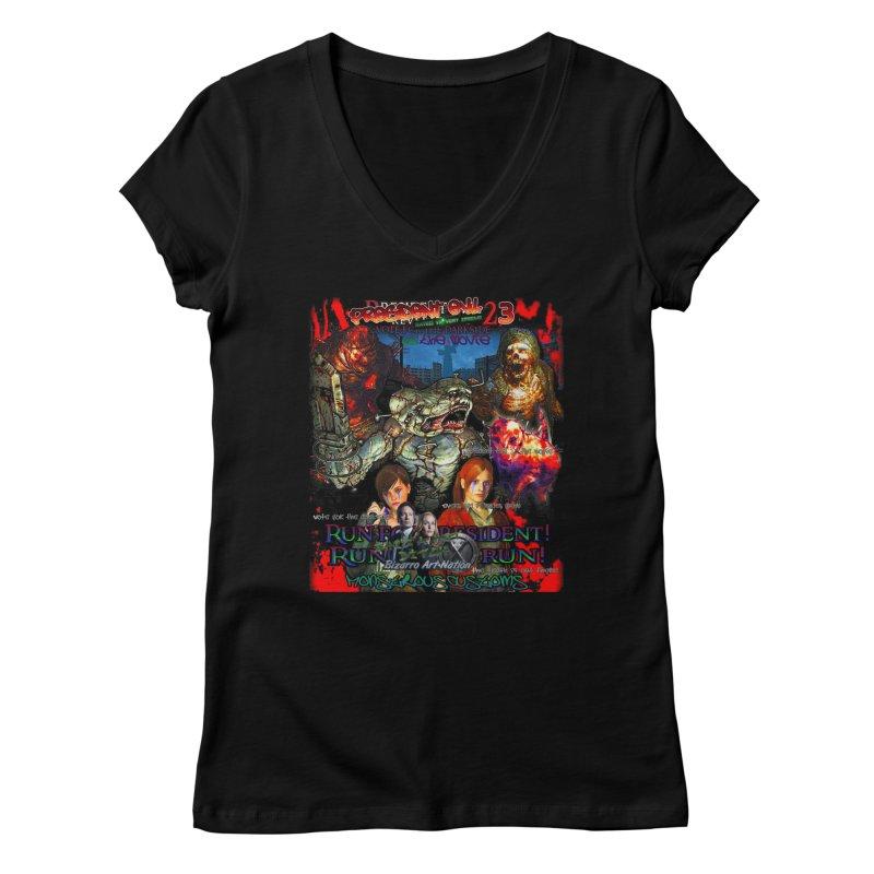 President Evil 23: The Movie Women's Regular V-Neck by Monstrous Customs