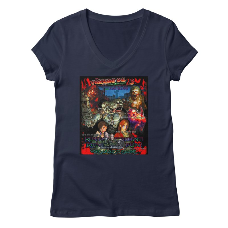 President Evil 23: The Movie Women's V-Neck by Monstrous Customs