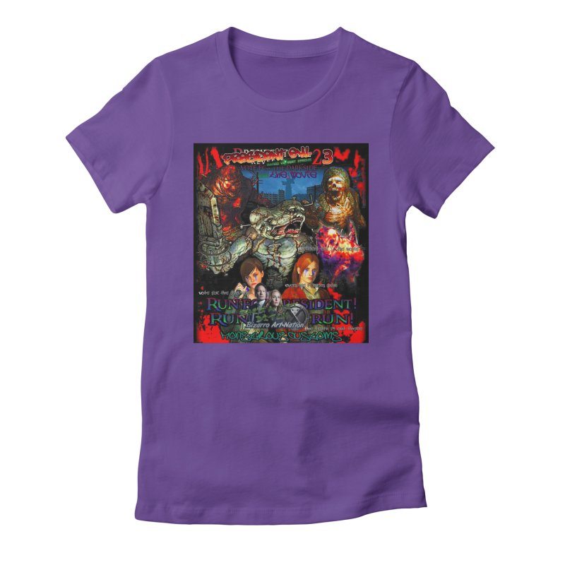 President Evil 23: The Movie Women's Fitted T-Shirt by Monstrous Customs