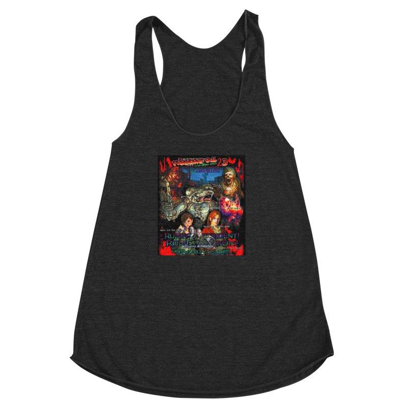 President Evil 23: The Movie Women's Racerback Triblend Tank by Monstrous Customs