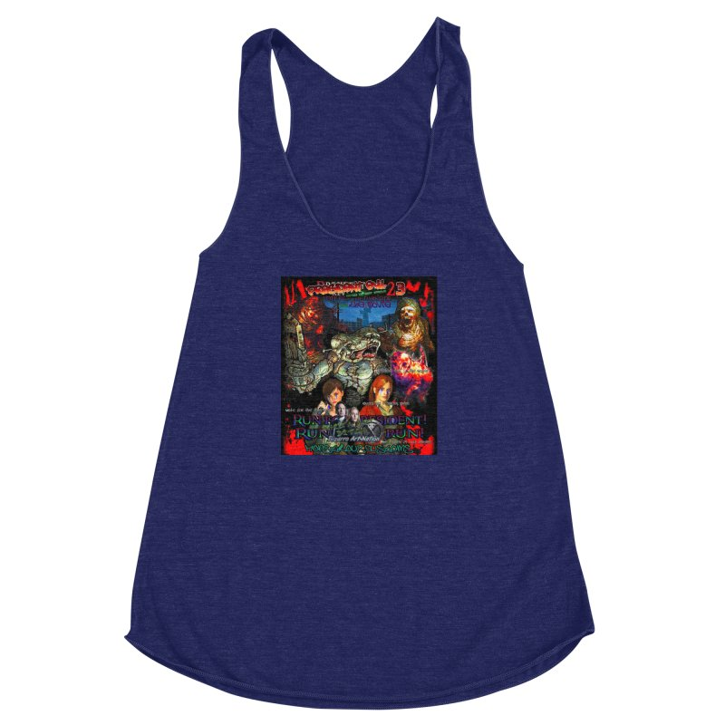 President Evil 23: The Movie Women's Racerback Triblend Tank by Monstrous Customs