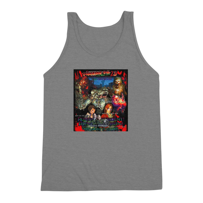 President Evil 23: The Movie Men's Triblend Tank by Monstrous Customs