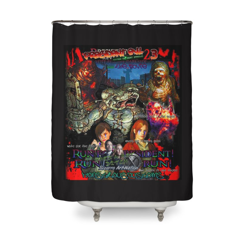 President Evil 23: The Movie Home Shower Curtain by Monstrous Customs