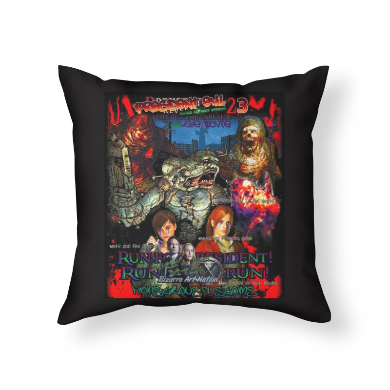 President Evil 23: The Movie Home Throw Pillow by Monstrous Customs