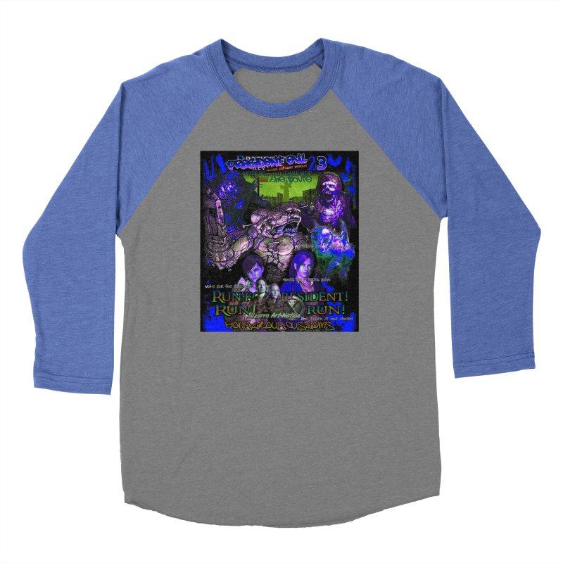 President Evil 23: Dark Night Women's Baseball Triblend Longsleeve T-Shirt by Monstrous Customs
