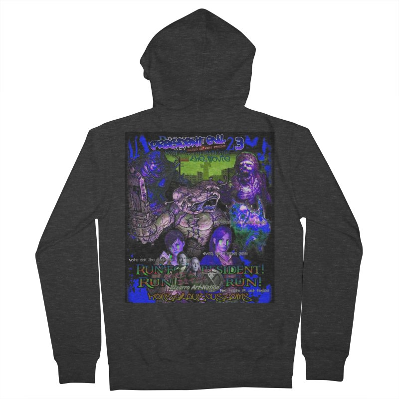 President Evil 23: Dark Night Men's French Terry Zip-Up Hoody by Monstrous Customs
