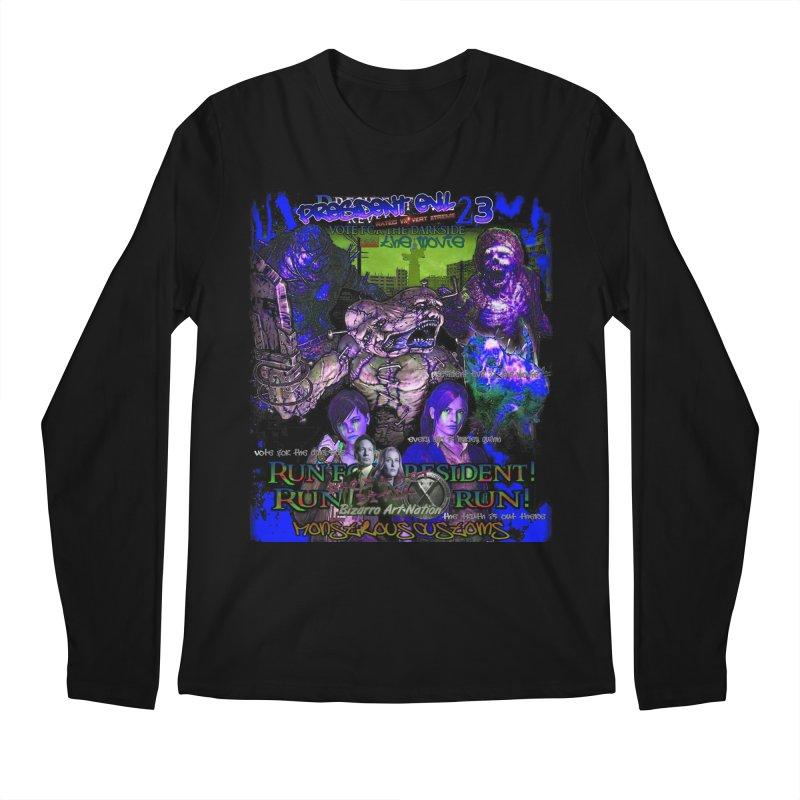 President Evil 23: Dark Night Men's Longsleeve T-Shirt by Monstrous Customs