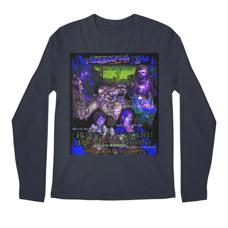 President Evil 23: Dark Night Men's Regular Longsleeve T-Shirt by Monstrous Customs