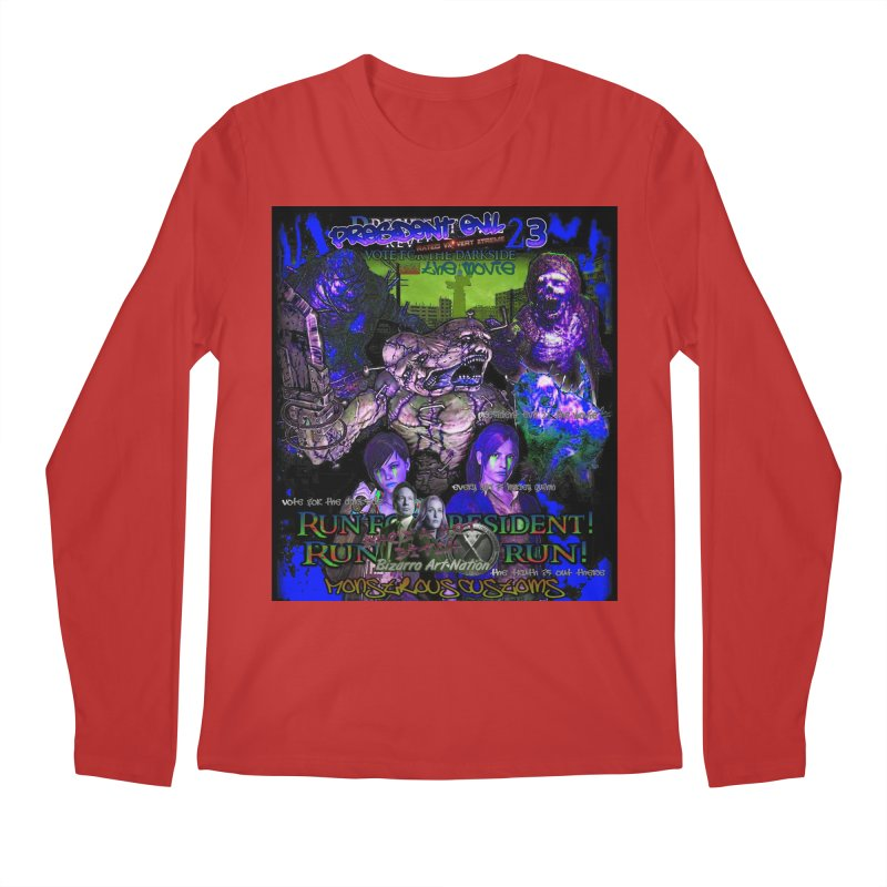 President Evil 23: Dark Night Men's Regular Longsleeve T-Shirt by Monstrous Customs