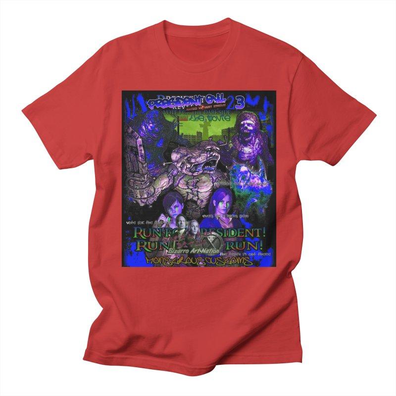 President Evil 23: Dark Night Men's Regular T-Shirt by Monstrous Customs