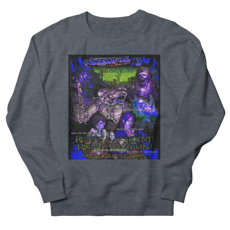 President Evil 23: Dark Night Men's French Terry Sweatshirt by Monstrous Customs