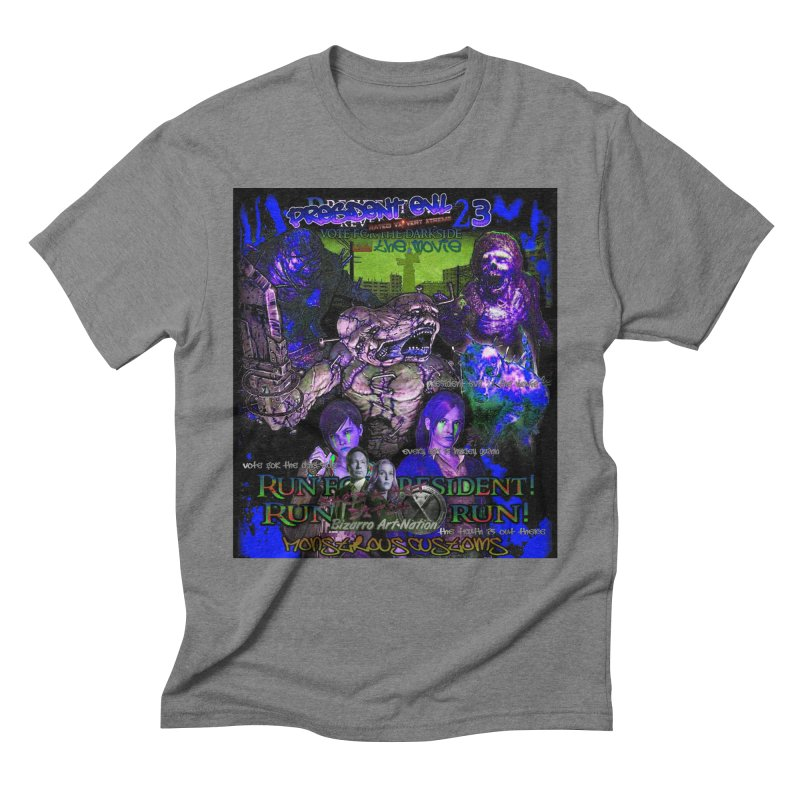 President Evil 23: Dark Night Men's Triblend T-Shirt by Monstrous Customs